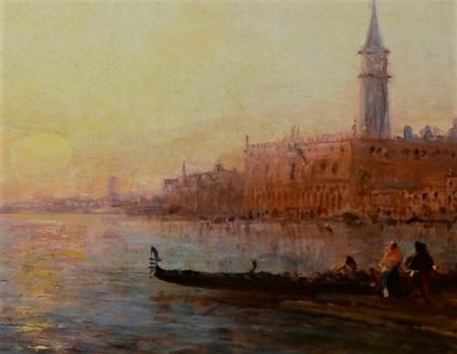 Paintings & Drawings  - Félix Ziem (1821-1911) Sunrise on the Riva degli Schiavoni, Venice