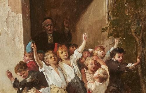 Paintings & Drawings  - François Lanfant de Metz  (1814-1892) - After catechism