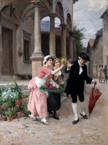 Jules Girardet (1856-1946) - Pretty florists  - Paintings & Drawings Style
