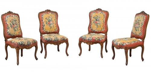 Suite of 4 Lounge Chairs, early Louis XV period