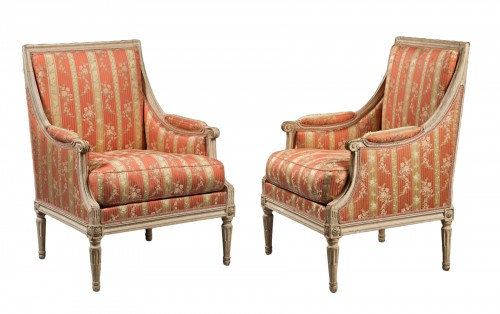 Pair of Bergères by Georges Jacob,  Louis XVI period