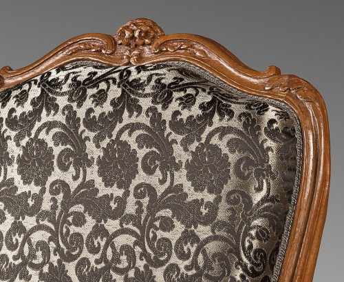 Nicolas Heurtaut, exceptional suite of eight armchairs for the Queen -
