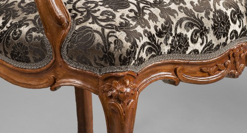 18th century - Nicolas Heurtaut, exceptional suite of eight armchairs for the Queen