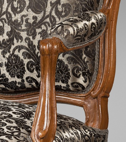 Louis XV - Nicolas Heurtaut, exceptional suite of eight armchairs for the Queen