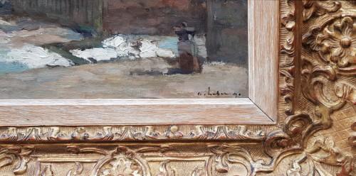"""Albert Lebourg (1849-1928) """"L'entrée du port à Dieppe"""" -"""