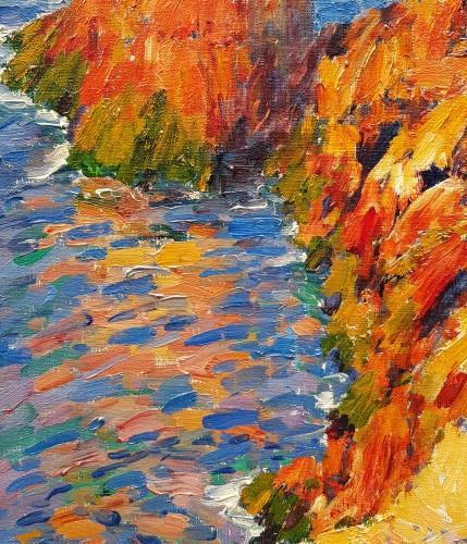 Alexandre Isailoff   (Born 1869) - Les roches rouges de l'Estérel - Paintings & Drawings Style