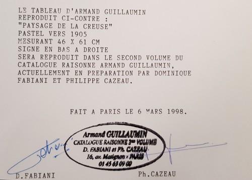 "Paintings & Drawings  - Armand Guillaumin (1841-1927) ""La Sédelle near Crozant, circa 1905"""