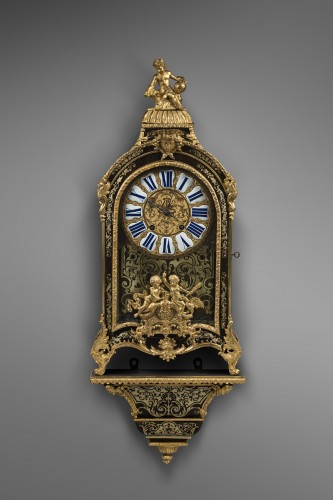 Important Cartel in Boulle marquetry, Late Louis XIV period - Clocks Style Louis XIV
