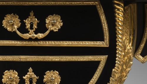 Bureau plat in ebony, Paris Régence period -