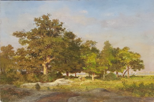 Caws under the trees - Ernest Guillemer (1839-1913)