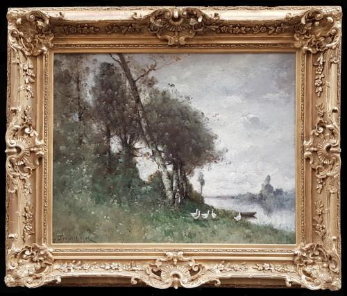 Paul-Désiré Trouillebert (1829-1900) The goose keeper -