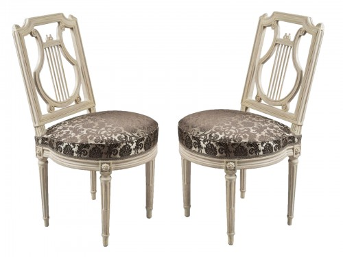 Height chairs by Georges Jacob, Epoque Louis XVI