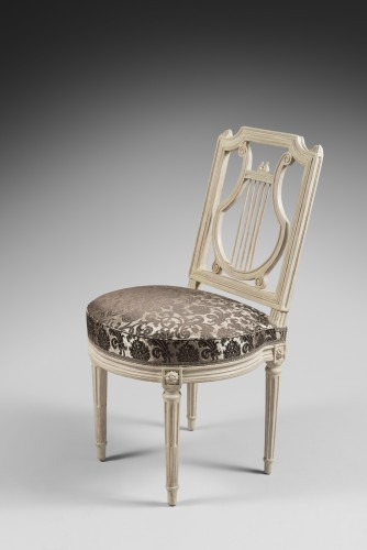 Seating  - Height chairs by Georges Jacob, Epoque Louis XVI