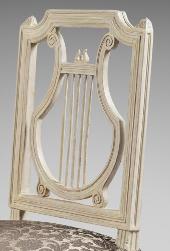 Height chairs by Georges Jacob, Epoque Louis XVI -