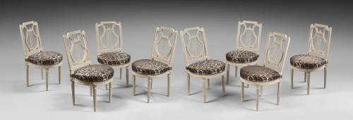 Louis XVI - Height chairs by Georges Jacob, Epoque Louis XVI
