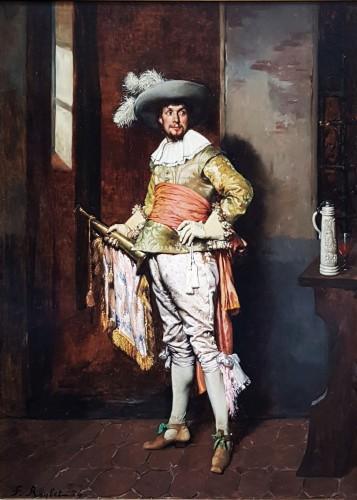 Ferdinand Roybet (1840-1920) - Gentleman with bugle