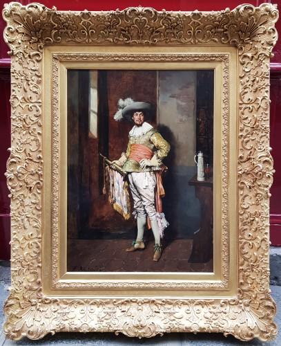 Ferdinand Roybet (1840-1920) - Gentleman with bugle - Paintings & Drawings Style