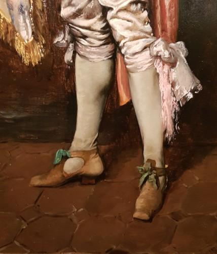Paintings & Drawings  - Ferdinand Roybet (1840-1920) - Gentleman with bugle
