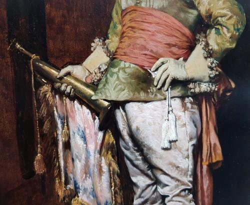 Ferdinand Roybet (1840-1920) - Gentleman with bugle -