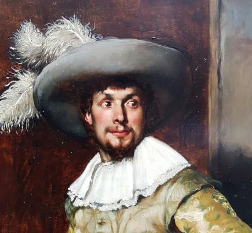 19th century - Ferdinand Roybet (1840-1920) - Gentleman with bugle