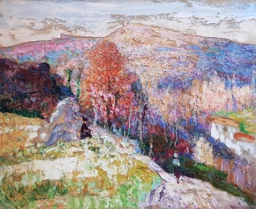 Victor Charreton (1864-1937) - Premières neiges en Creuse