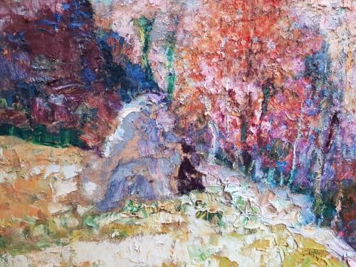 Victor Charreton (1864-1937) - Premières neiges en Creuse - Paintings & Drawings Style