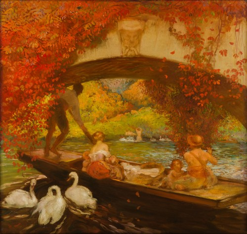 Gaston La Touche  (1854-1913) - Boat trip under the bridge, Saint Cloud