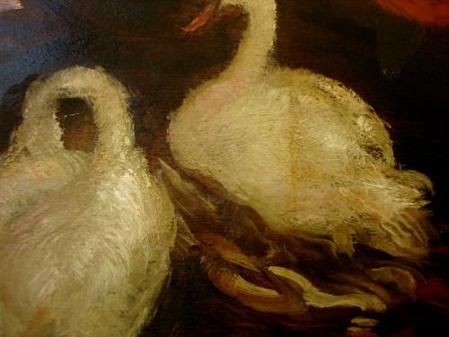 Paintings & Drawings  - Gaston La Touche  (1854-1913) - Boat trip under the bridge, Saint Cloud