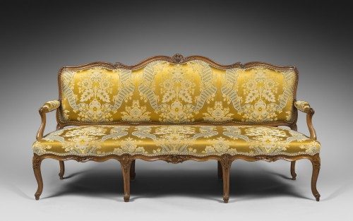Louis XV - Large Louis XV period sofa by Louis CRESSON