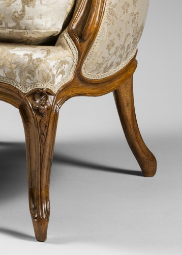 """Pair of """"Bergères"""" in cabriolet, Louis XV period - Seating Style Louis XV"""