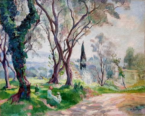 """Henri Lebasque (1865-1937)  - A l'ombre des Eucalyptus"""""""