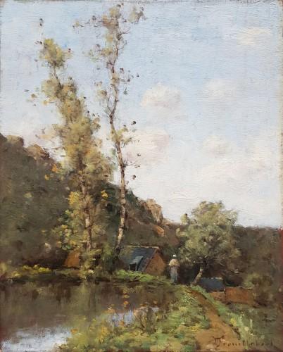 Paul-Désiré Trouillebert  (1829-1900)  L'étang du moulin