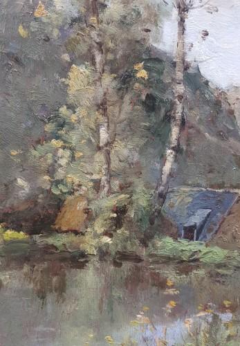 Paintings & Drawings  - Paul-Désiré Trouillebert  (1829-1900)  L'étang du moulin