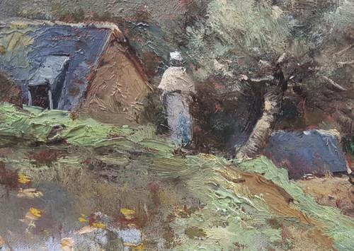Paul-Désiré Trouillebert  (1829-1900)  L'étang du moulin -