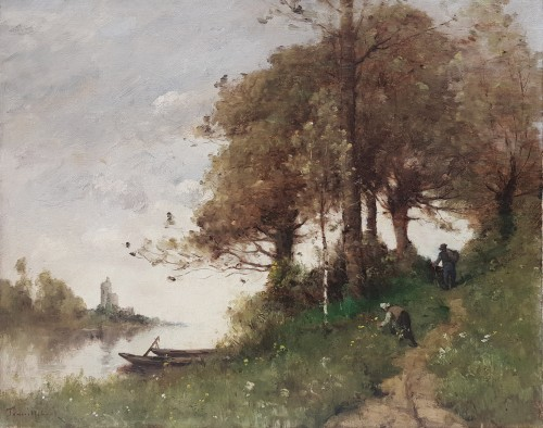 Paul Désiré Trouillebert (1829-1900) - Along the path