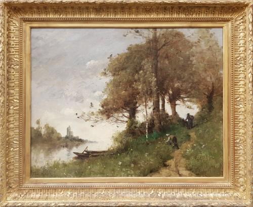 Paul Désiré Trouillebert (1829-1900) - Along the path - Paintings & Drawings Style