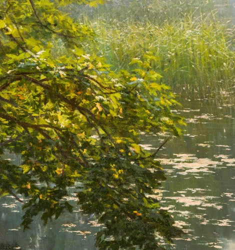 "Henri Biva (1848-1928) ""Pond in the mist""  Salon de Paris  1910  - Paintings & Drawings Style"