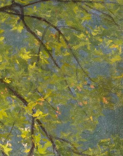 """- Henri Biva (1848-1928) """"Pond in the mist""""  Salon de Paris  1910"""