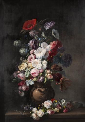 Clément Gontier (1876-1918) - Monumental floral composition