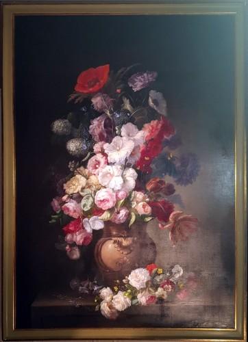 19th century - Clément Gontier (1876-1918) - Monumental floral composition