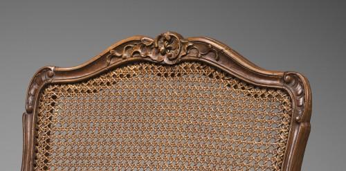 """Caned """"Fauteuil de bureau"""" by Etienne Meunier - Seating Style Louis XV"""