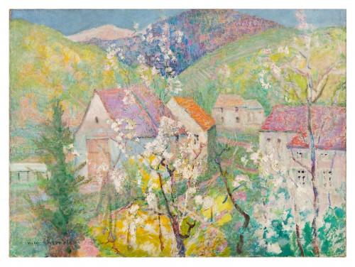 """Victor Charreton (1864-1937) -  """"Matin de printemps"""""""