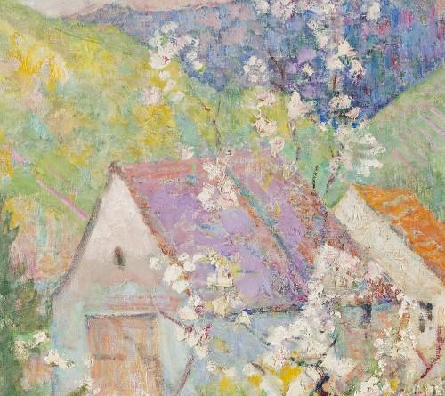 "Paintings & Drawings  - Victor Charreton (1864-1937) -  ""Matin de printemps"""
