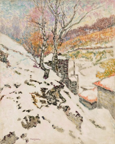 """Victor Charreton (1864-1937) """"Winter and Spring"""""""