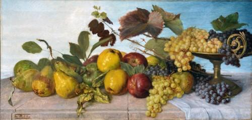 Franz Molitor  (1857-1929)  - Still life with fruits