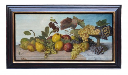 Franz Molitor  (1857-1929)  - Still life with fruits - Paintings & Drawings Style