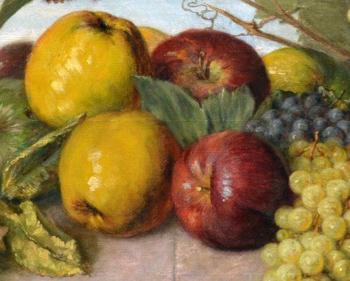 Paintings & Drawings  - Franz Molitor  (1857-1929)  - Still life with fruits