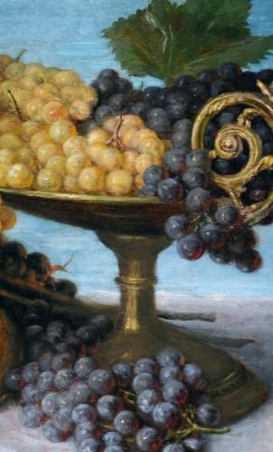 Franz Molitor  (1857-1929)  - Still life with fruits -