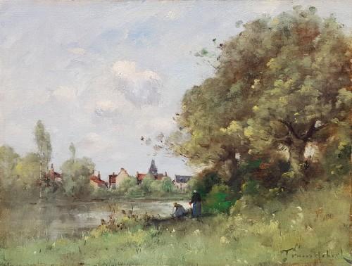 Paul-Désiré Trouillebert  (1829-1900) - The Laundresses