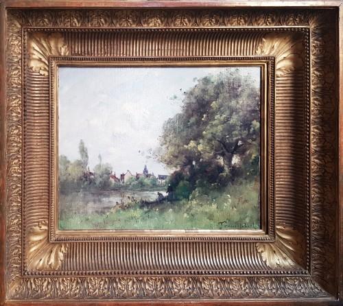 Paul-Désiré Trouillebert  (1829-1900) - The Laundresses -